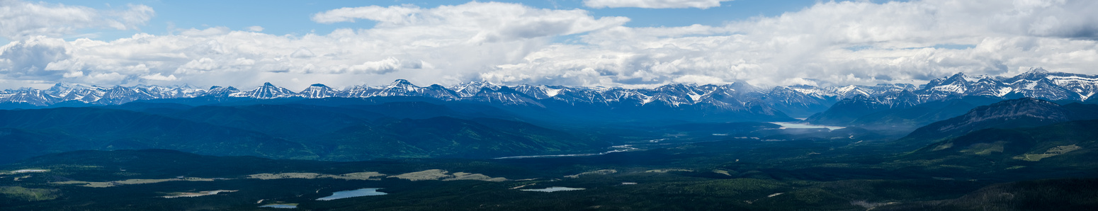 Views west to Abraham Lake (R) include Abraham, Allstones and Michner.