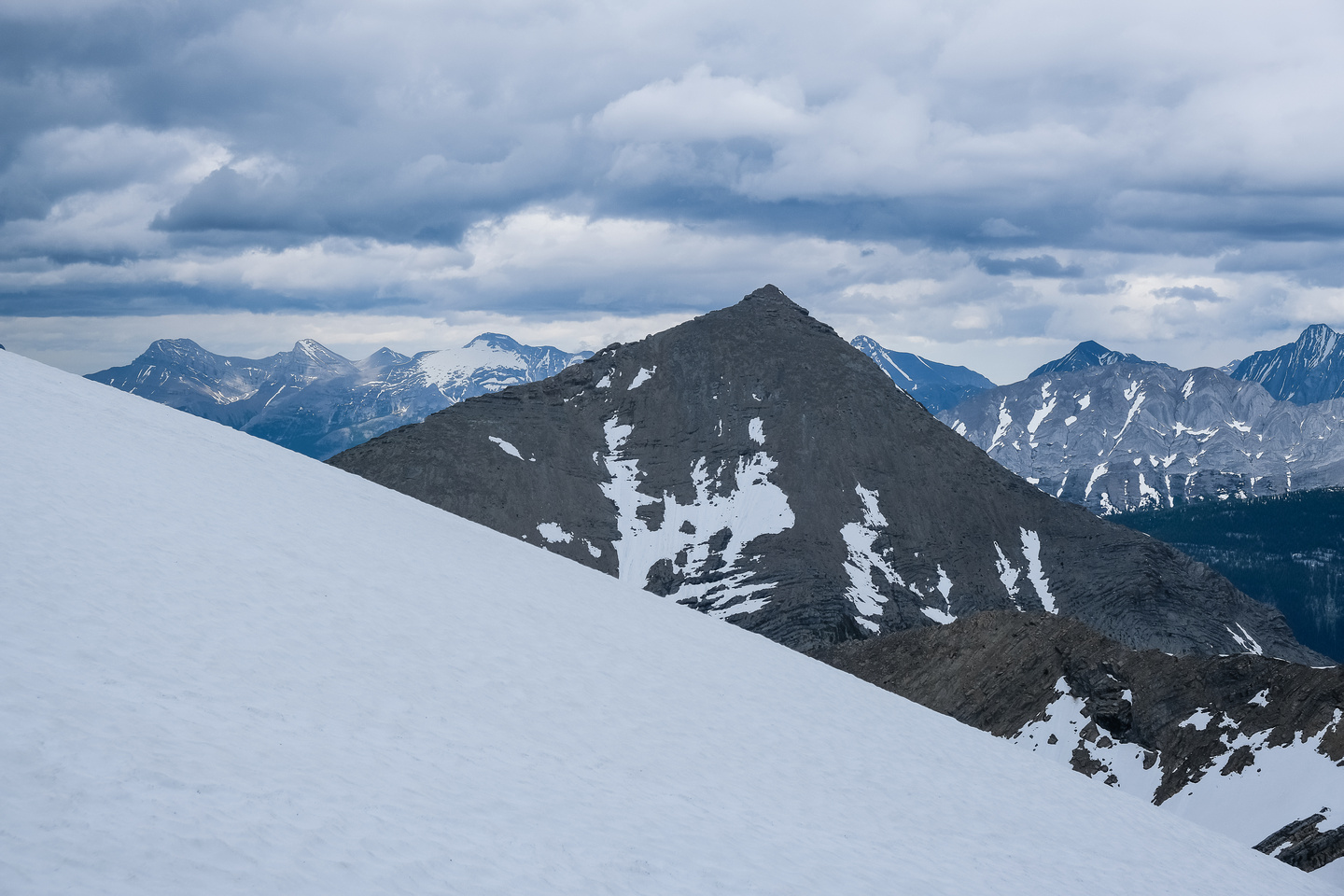 Mount Currie has a distinct pyramid shape.