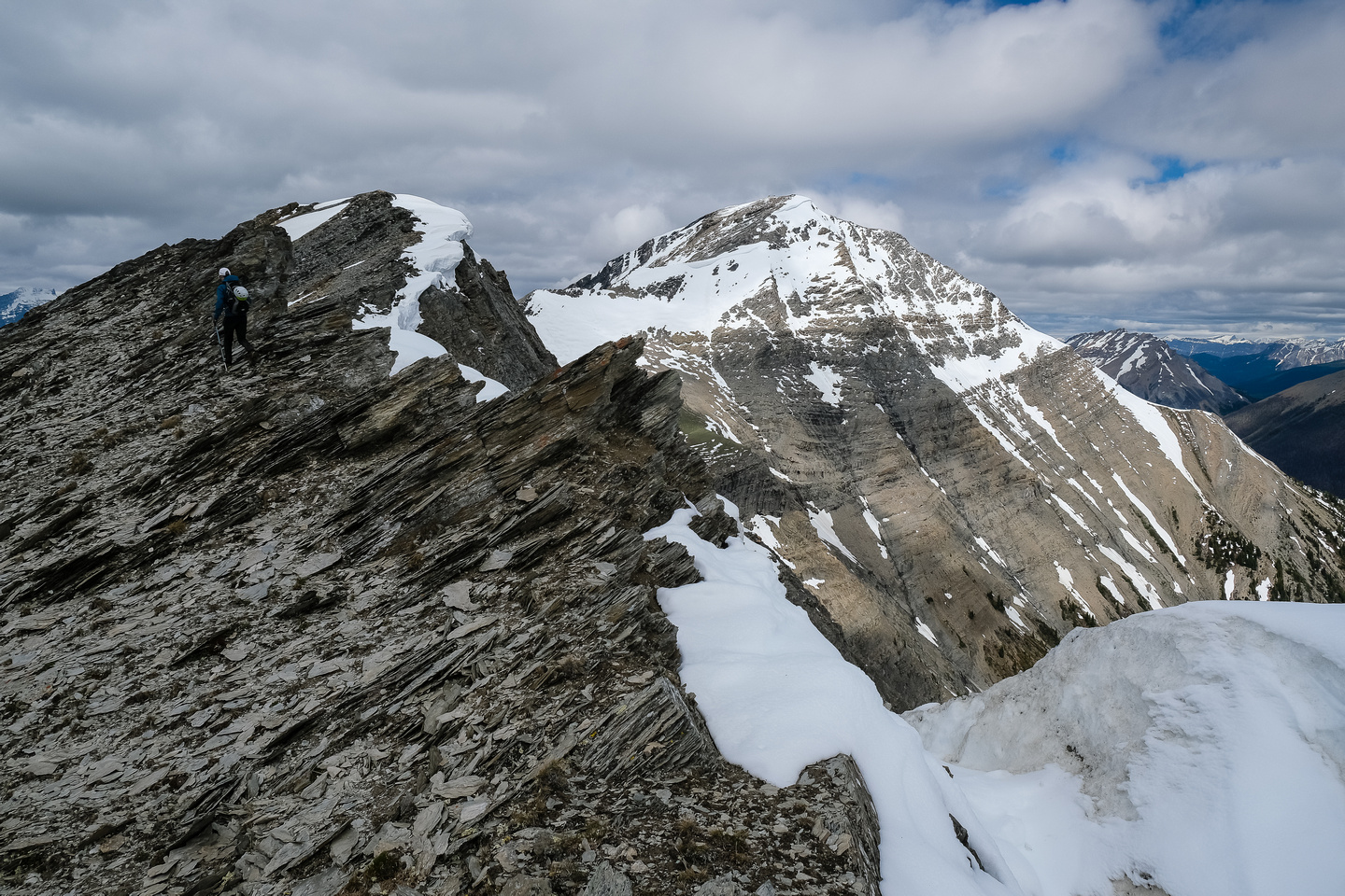 Traversing the south ridge of Mount Shanks.