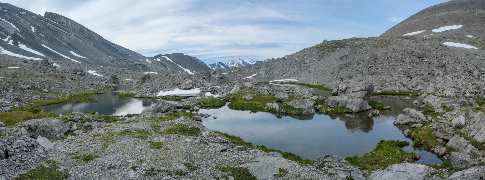 Tarns along the way into Bellow Peak.
