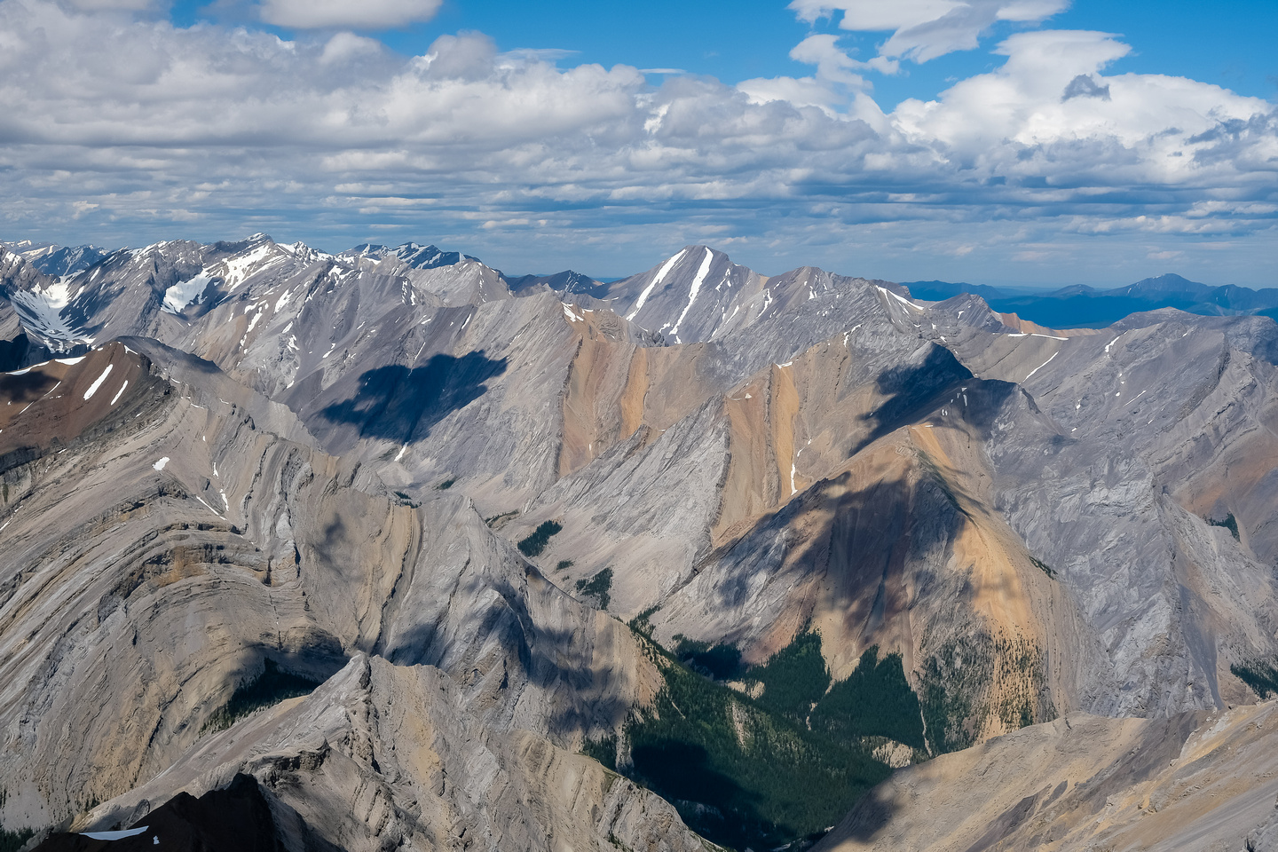 Opabin Mountain and Rustler Peak (R).