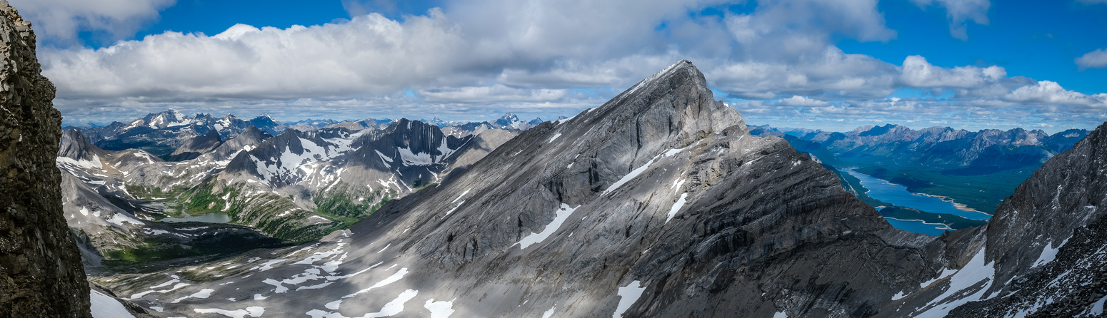 From the ridge top-out views to Mount Sarrail.