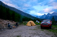 Car camping at the Middle Fork Trailhead.