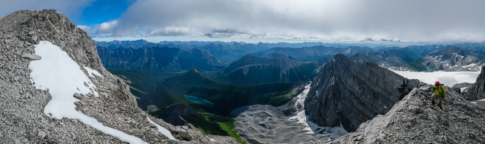 Spectacular views over Abruzzi Lake past Mount Connor from the summit ridge.