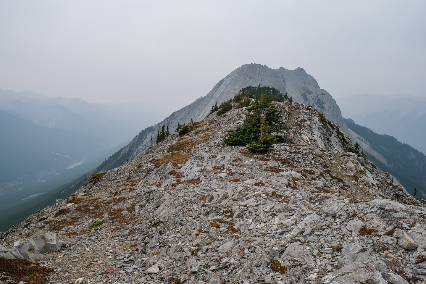 Hiking up the easy south ridge to the summit.