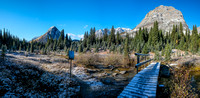 At the bridge to the Egypt Lakes and campground. I went left to Redearth Pass / Talc Lake.