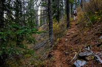 Hiking up the Aurora Creek trail to Marvel Pass.