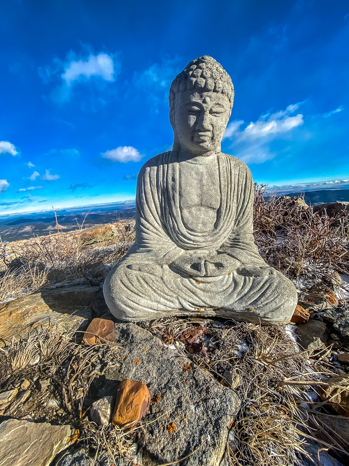 A Buddha near the summit.