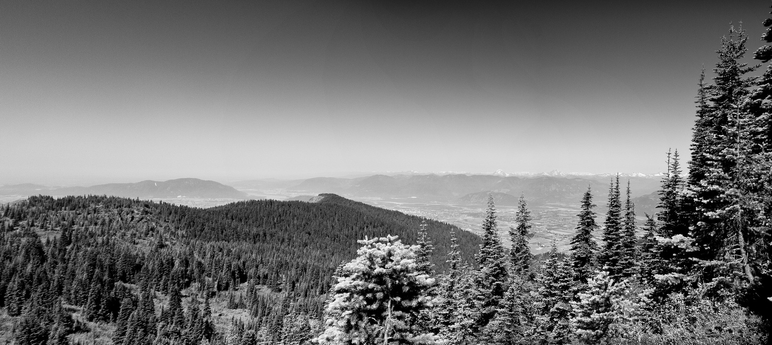 The view from just off the summit, looking back at the middle bump and Elk Mountain.
