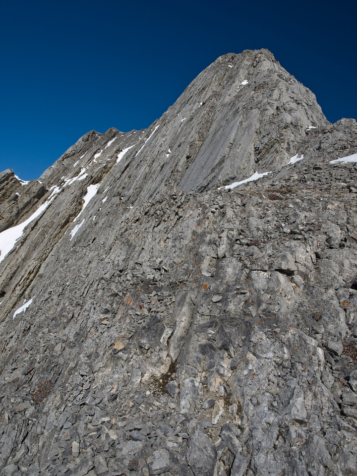 Another view of the crux, you really don't want to slip here.