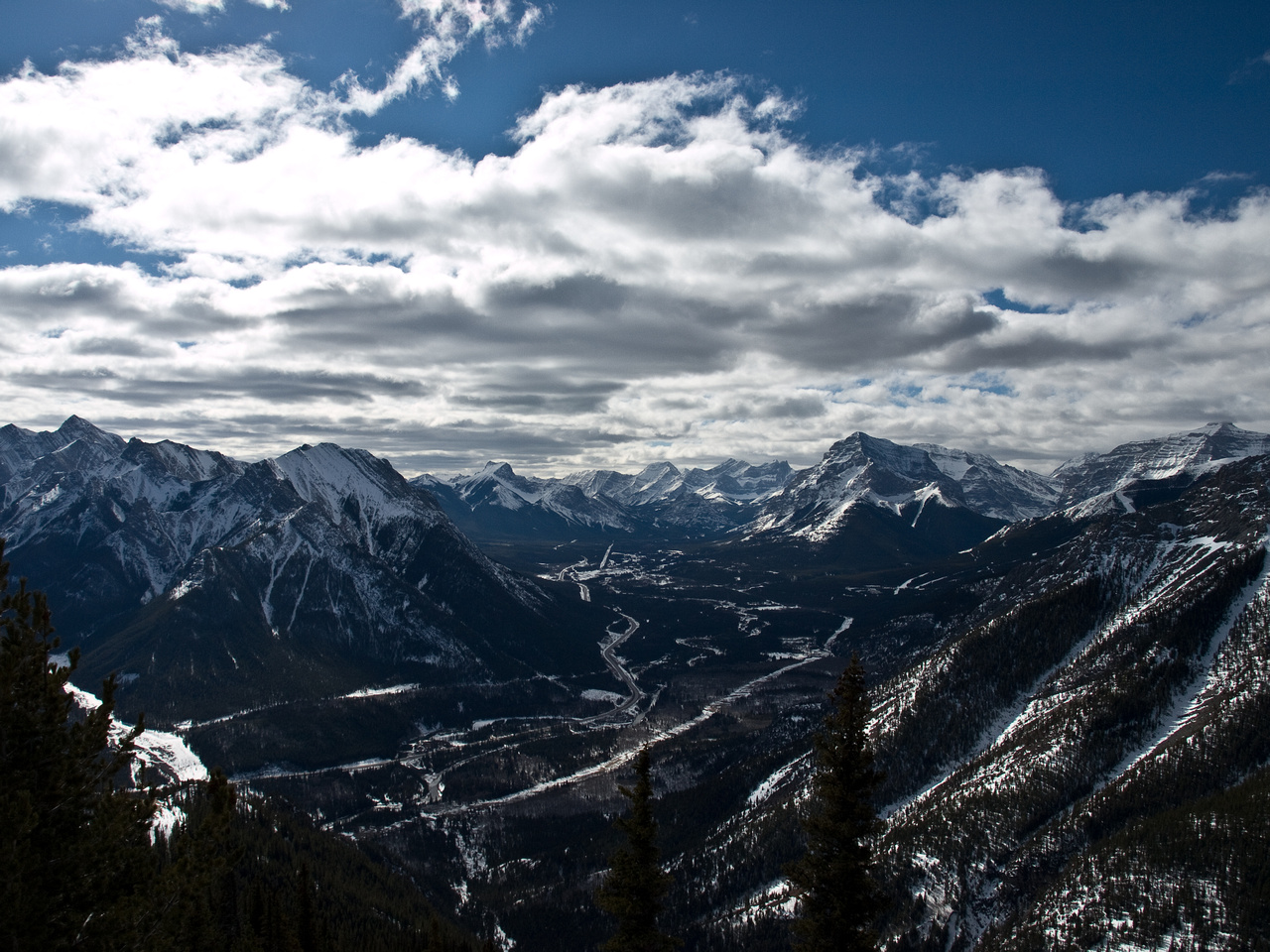McDougall, Kananaskis Peak, Wasootch, The Wedge, James Walker, Fortress, Kidd and Bogart (L to R).
