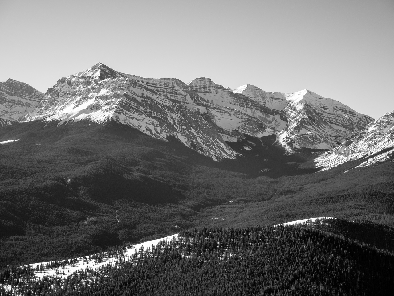 Mount Baril and Cornwell - Fording Pass to the right.