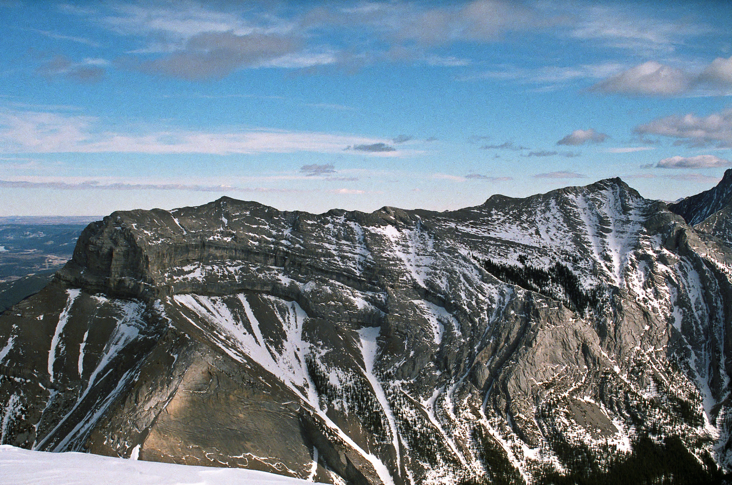 Mount McGillivray lies to the east.