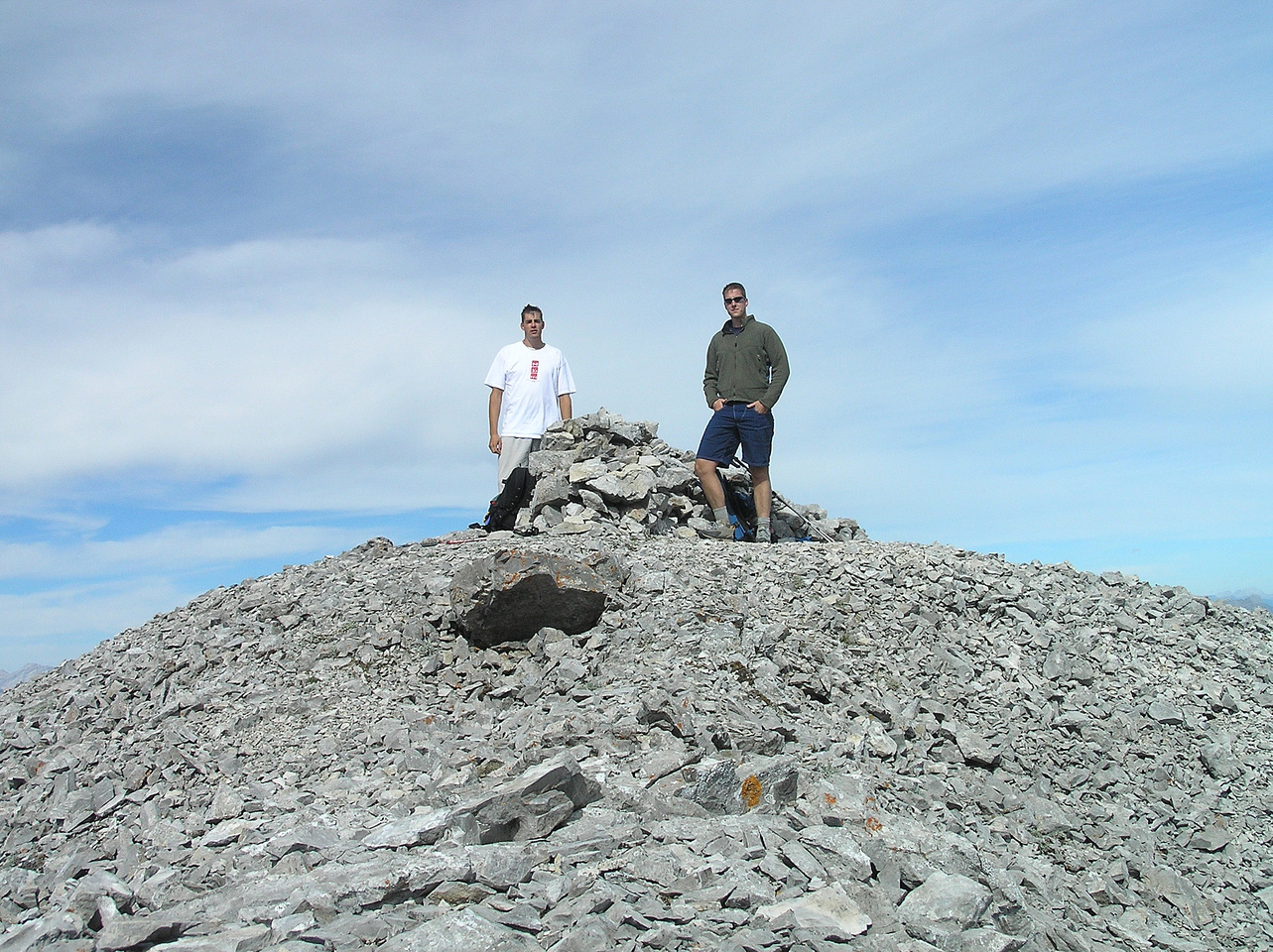The summit of Mount Tecumseh - enjoying the nicest weather we had all week.
