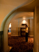 Checking out the history of the Banff Springs Hotel.