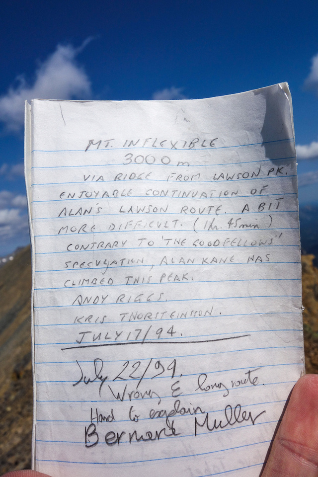 Some familiar names in the summit register.