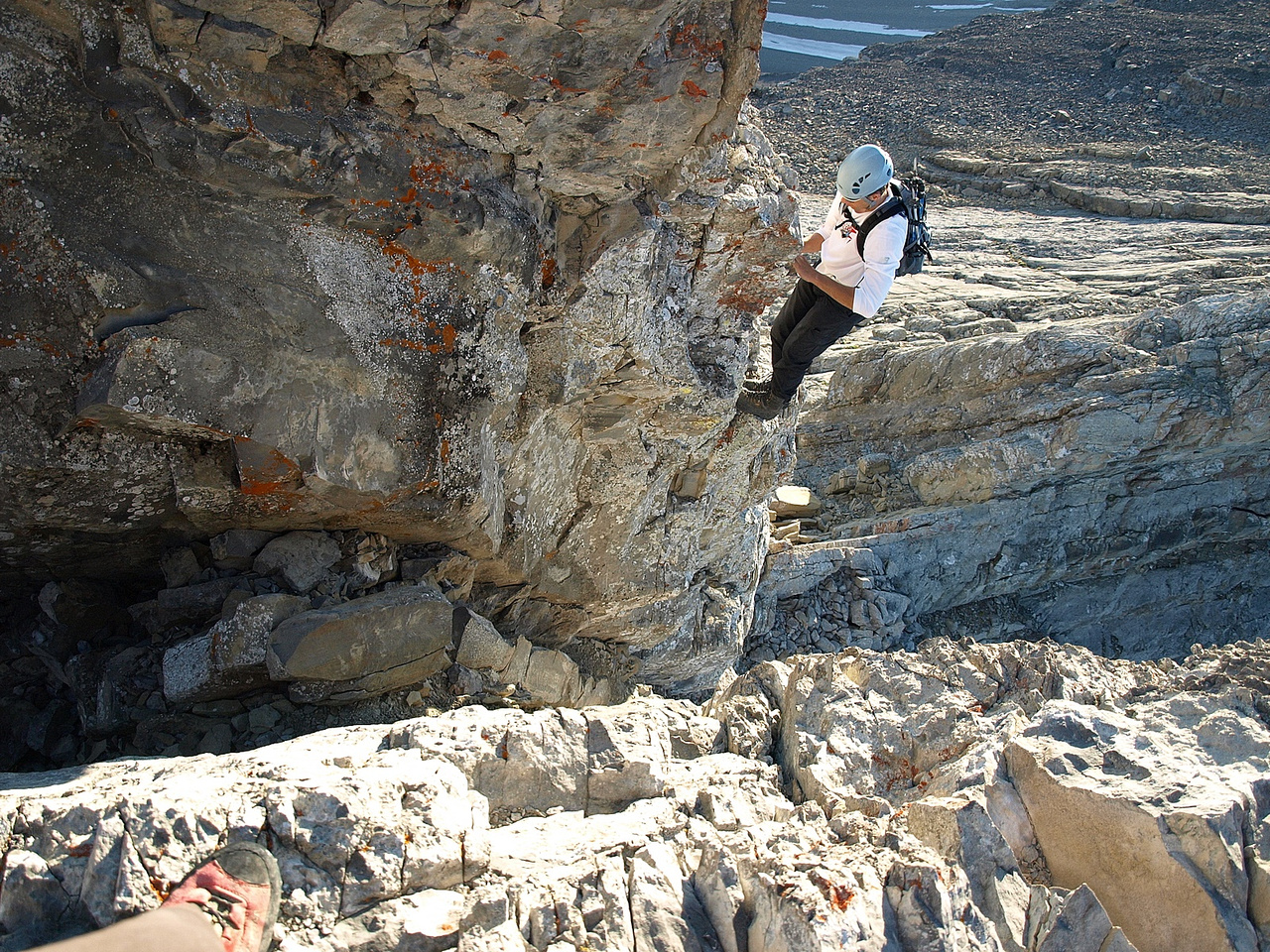 Kev on the crux.