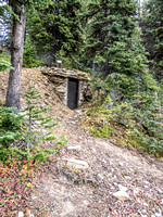 An old cellar, located just uphill from Lizzie's cabin.