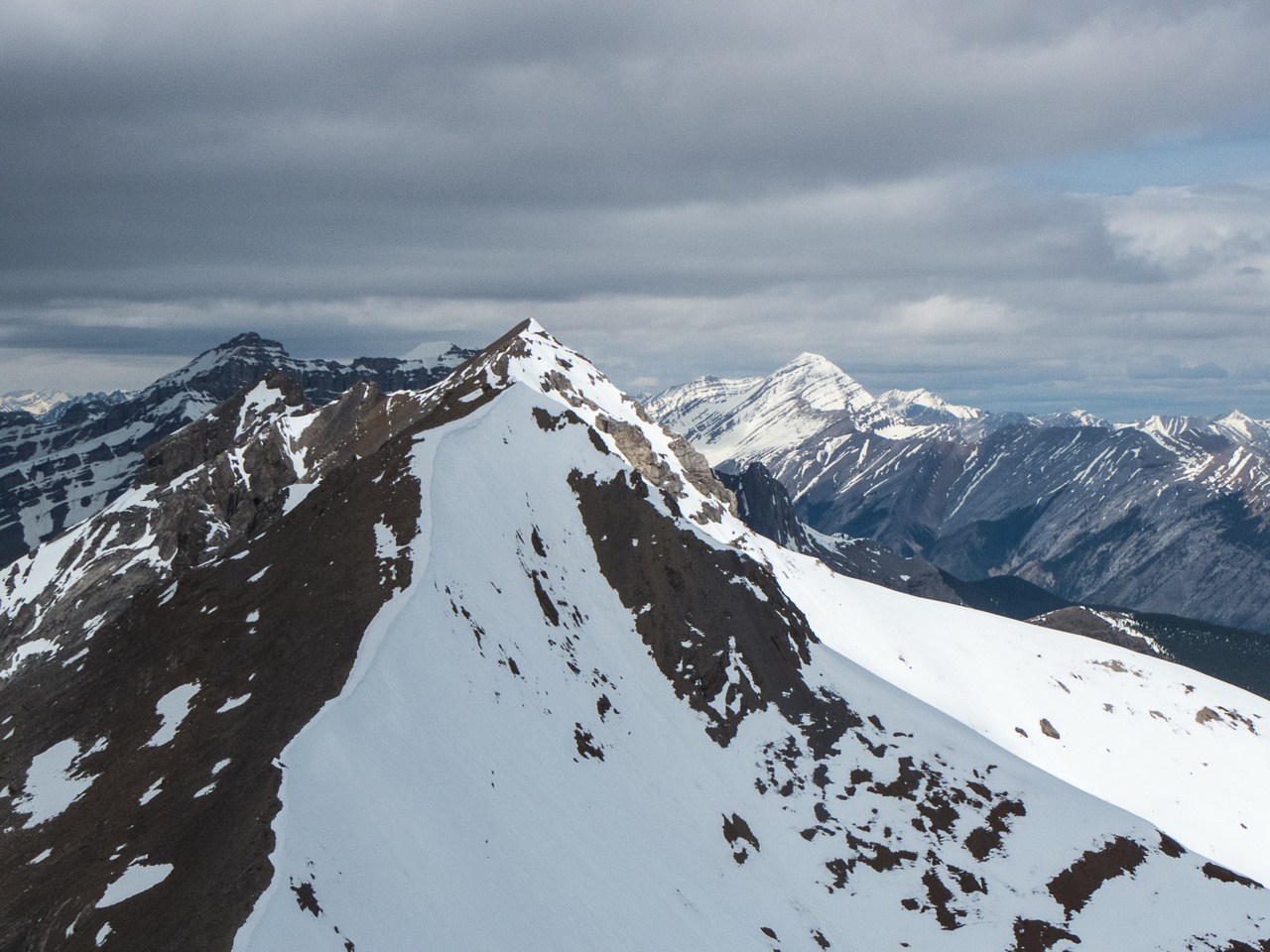 Looking over to the true summit of Charles Stuart.
