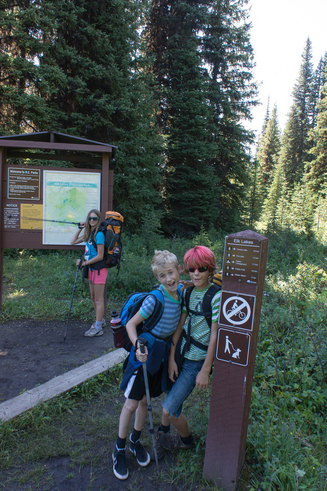 Entering Elk Lakes Provincial Parks in BC. They do a much more solid sign than the Alberta parks - not to mention all those boardwalks!