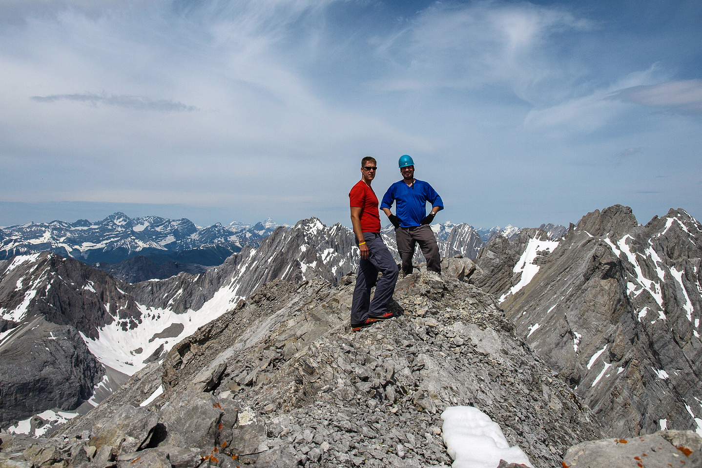 Kevin and Vern on the summit of Tombstone Mountain South.