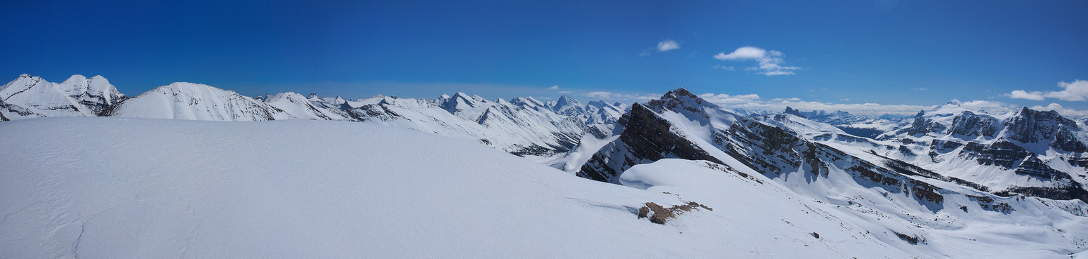 Looking over the Siffleur towards Willingdon, Cataract and Hector (R).
