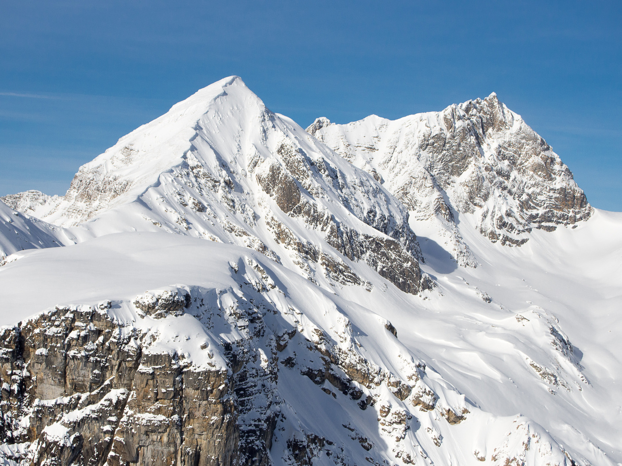 Mount Marpole with an unnamed summit at left.