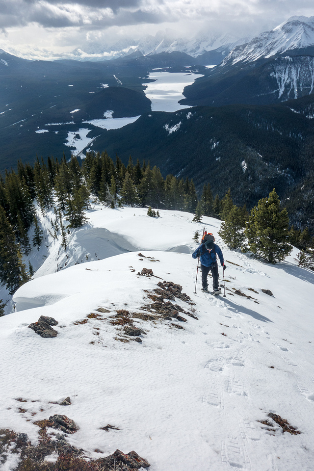 On the south ridge of Mount Lawson.
