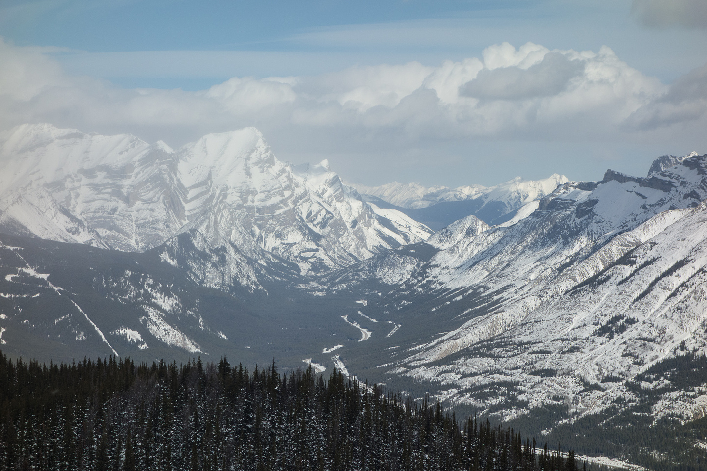 View north over Spoon Needle towards Mount Kidd.