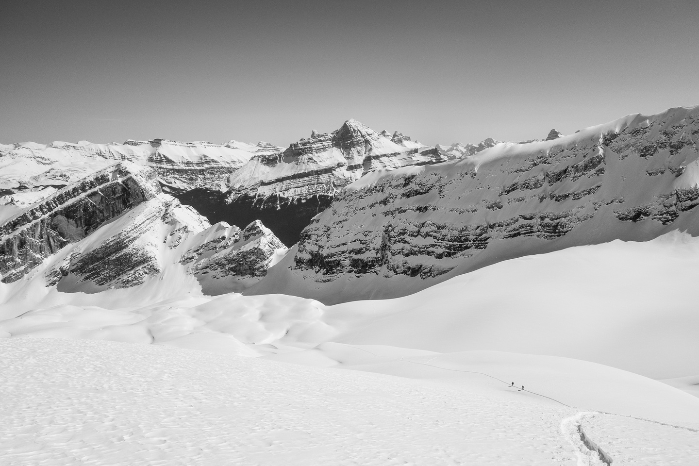 Icefields make people look tiny :)