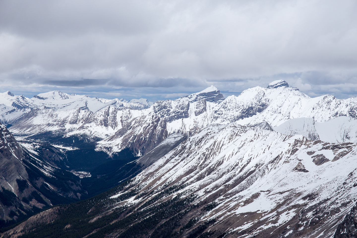 Looking into the Skoki area, Douglas and St Bride on the right.