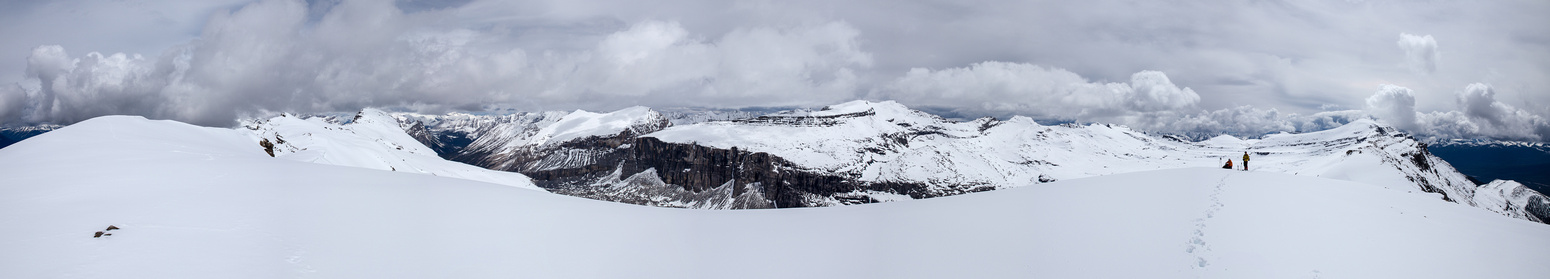 Taking a break on the ridge. Armor is the peak on the left, Protection (TV) on the right with Pulsatilla in the middle.