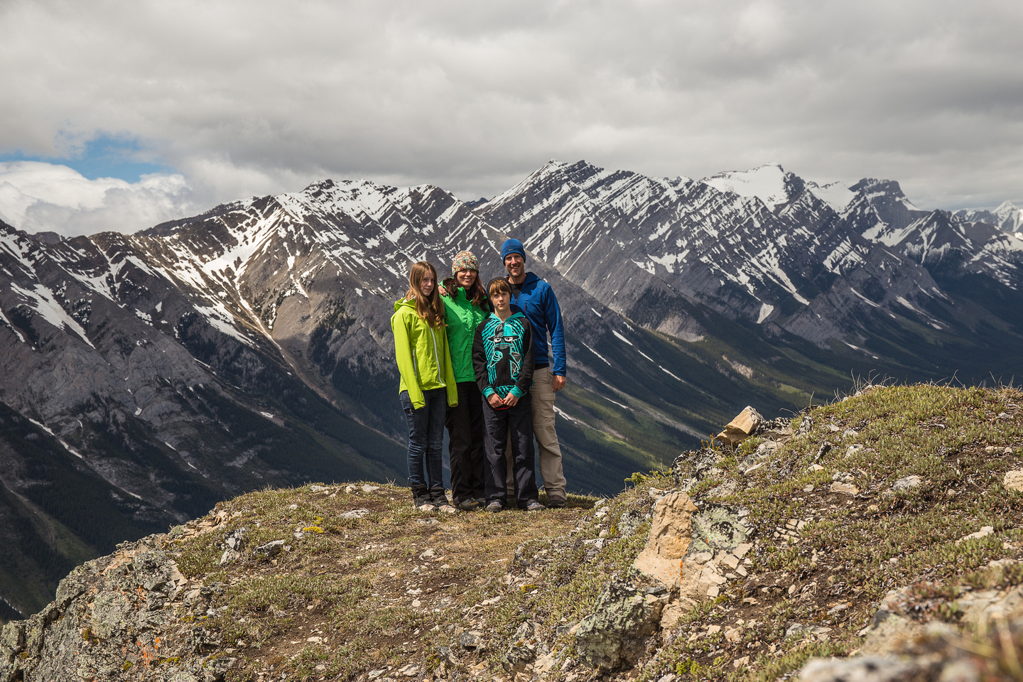 The Dewit clan on the false summit of King Creek Ridge.