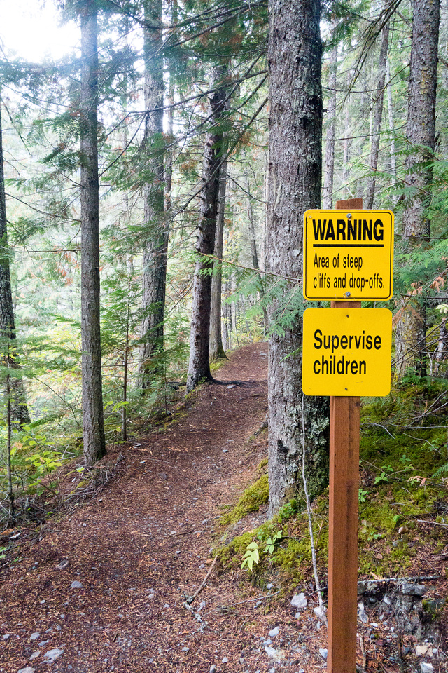 Too many yellow signs, or too many dumb hikers? Your choice.