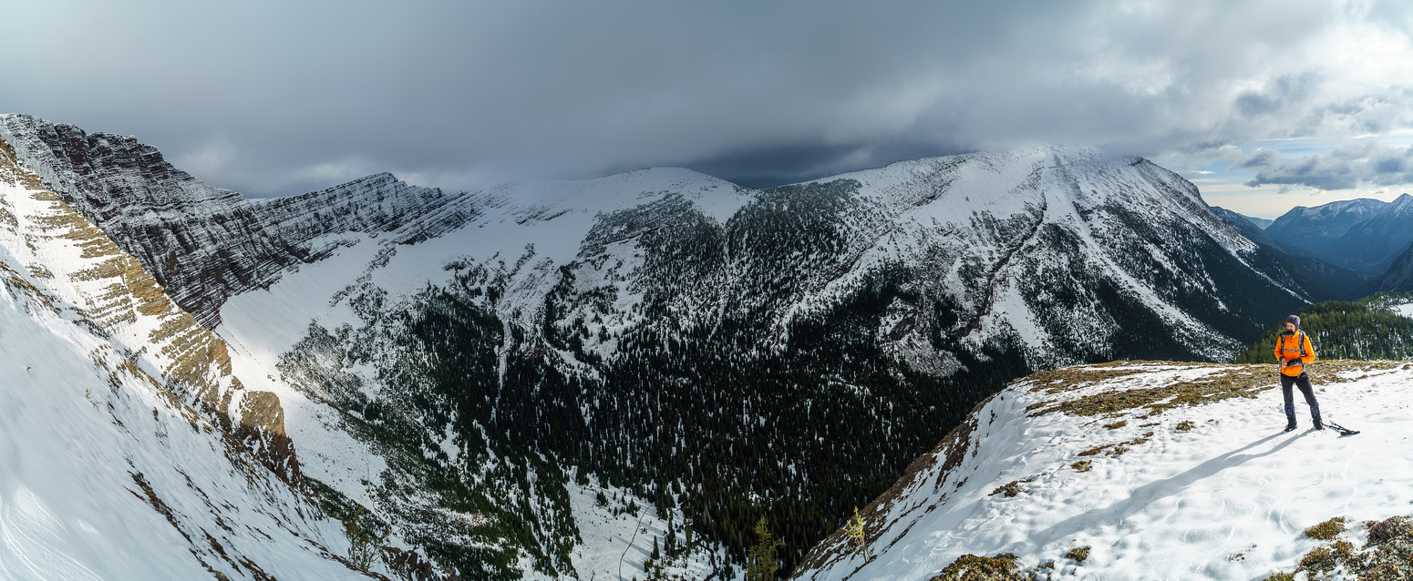 Another view of Mount Lineham and the valley between the Rowe Lakes and Lineham Ridge.