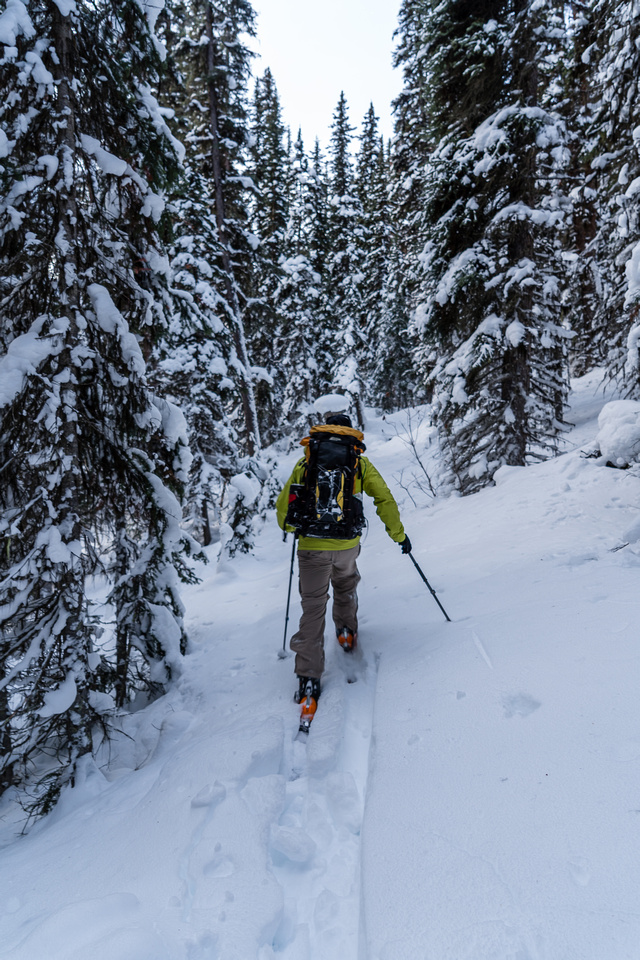 Wietse continues to break trail towards Twin Lakes.