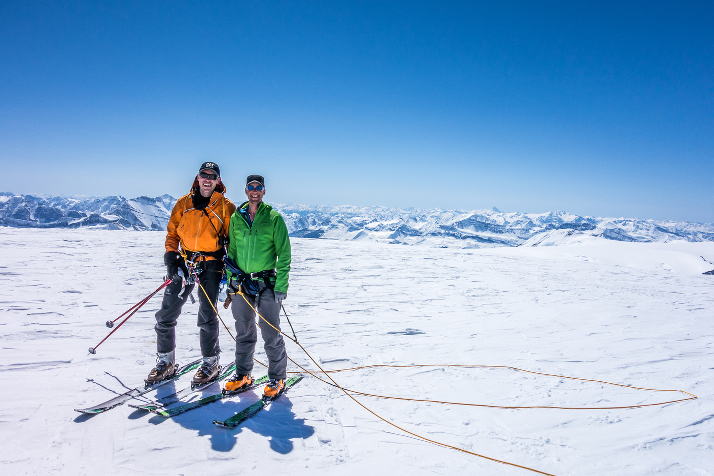 JW and Vern on the summit of Snow Dome.