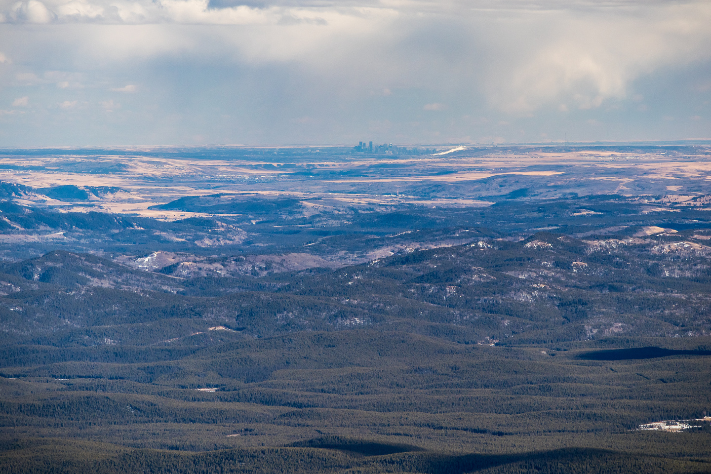 YYC lies over the foothills - clearly showing why Davidson and Waiparous are so visible from there.