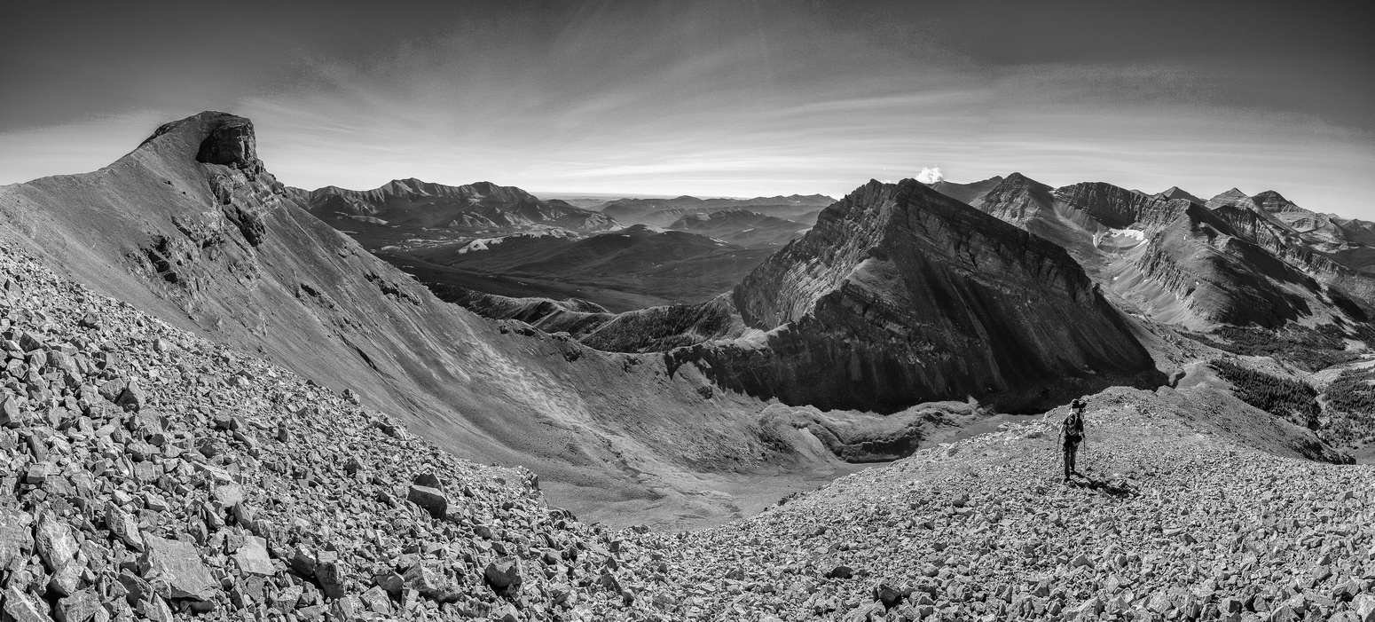 A great view to the true summit of Muir as we ascend the south ridge.