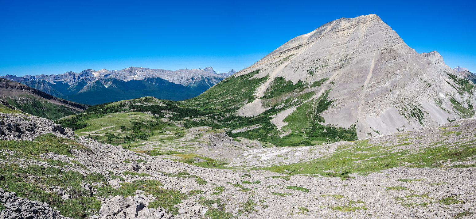 We enter the magical Weary Creek Gap meadows between Mounts Muir and McPhail.