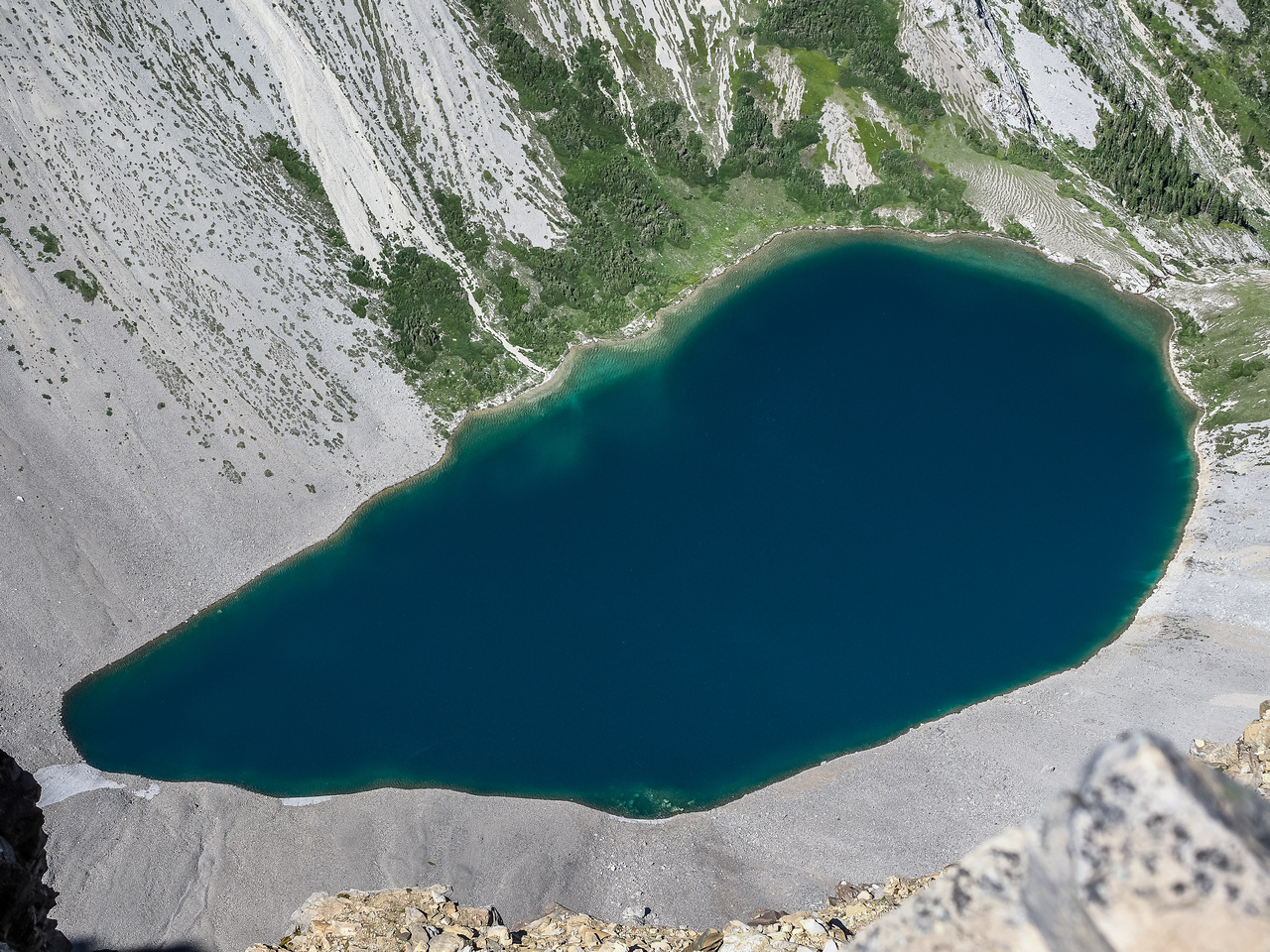 Lake of the Horns from Mount McPhail's summit.