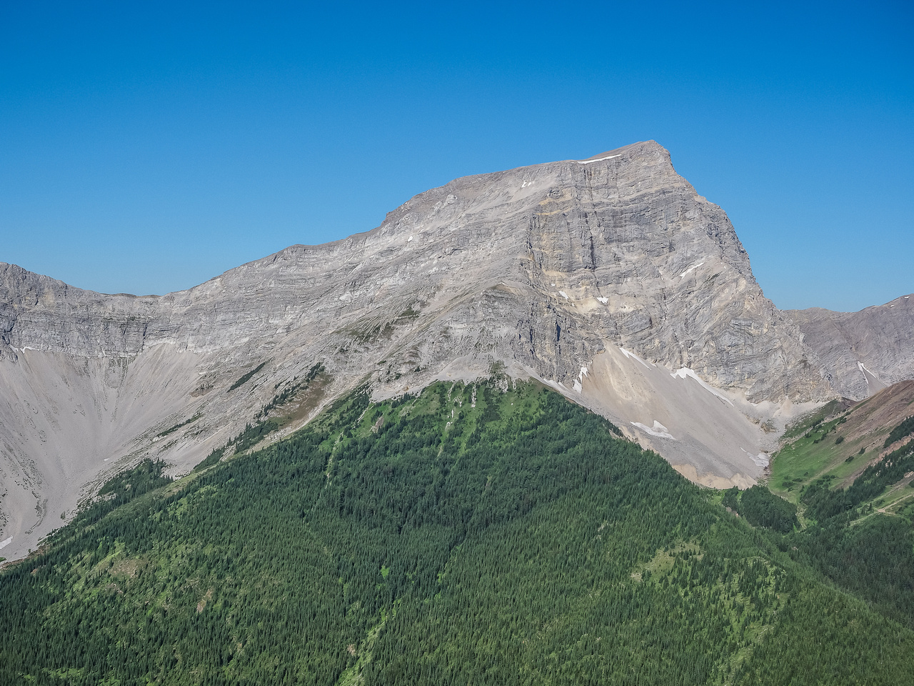 Mount Bishop is impressive from the east.