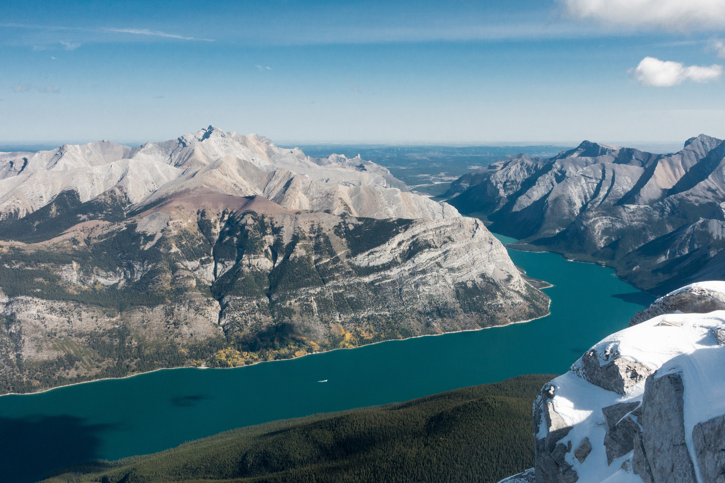 Another shot of Costigan with Lake Minnewanka and the prairies beyond.