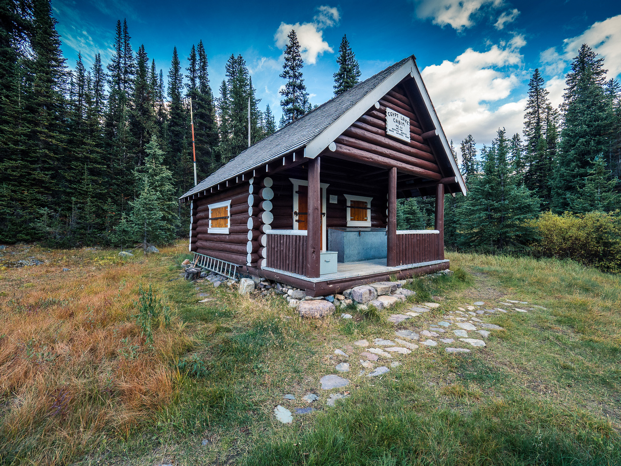 The Egypt Lake warden cabin.