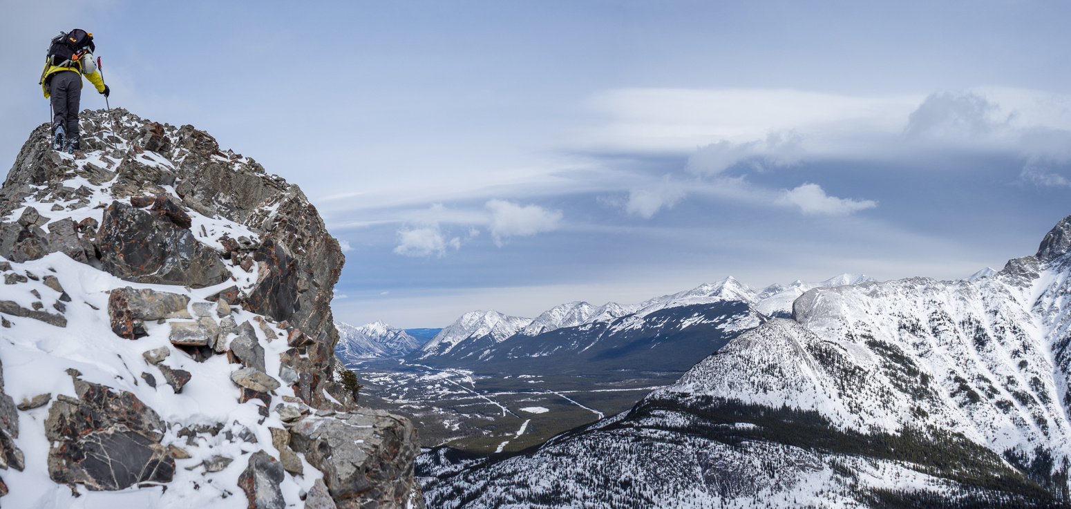 As you can see - there's some exposure in places - this is looking north to Kananaskis Village.
