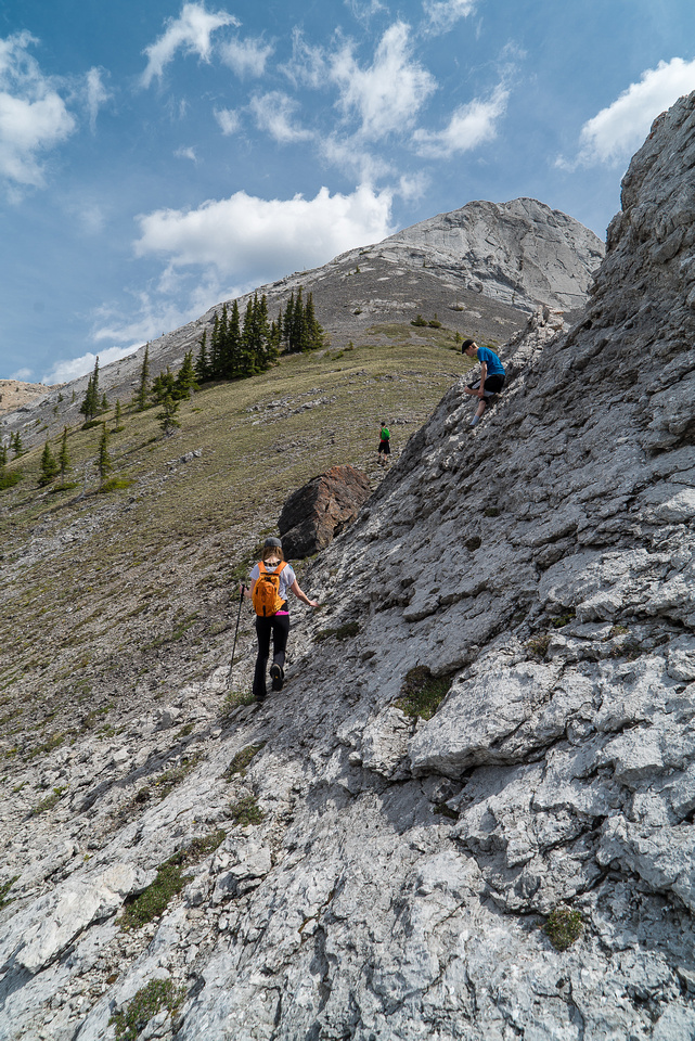Others go looking for fun scrambling terrain! :) The slabs in the area are very grippy rock and very sharp edges.