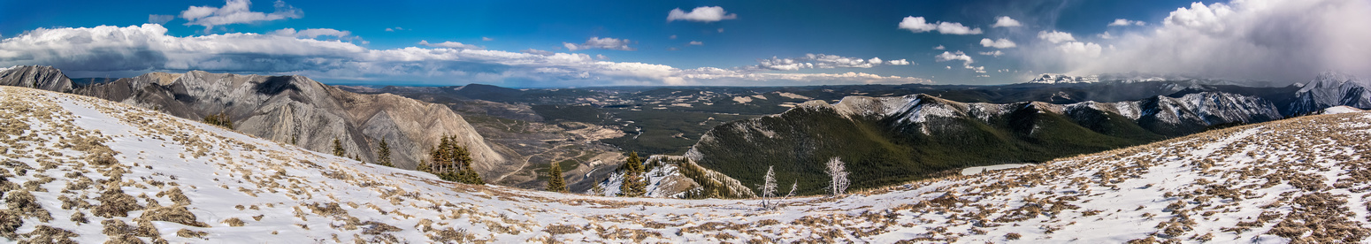 Summit pano looking east and south.