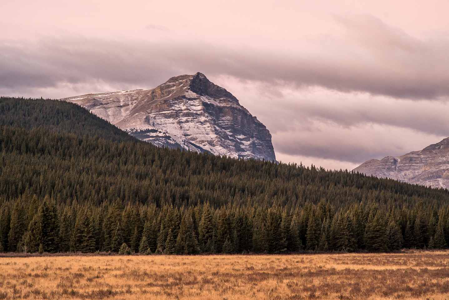 Warden Rock in early morning lighting. We would finally scramble this striking peak in March of 2015.