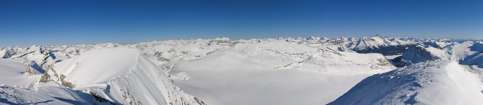 L to R, Perren, Recondite, Cirque, Willingdon Group, Vulture, Crowfoot, Cataract, Andromache, Little Hector, Hector, Pulpit, Temple and the Lake Louise giants (R).