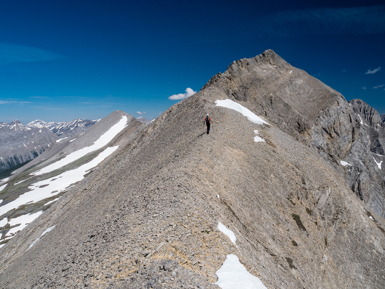 The first part of the south ridge is easy.